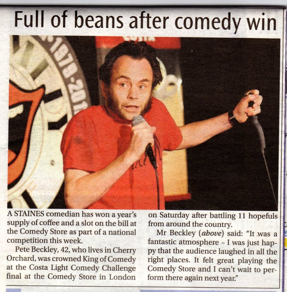 Full of Beans article from the staines informer