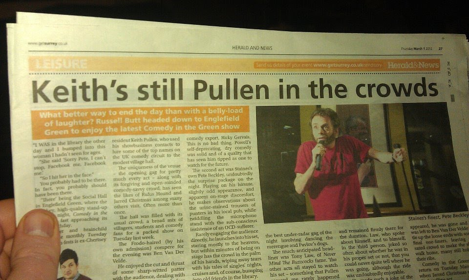 Staines and Ashford News Review of Comedy In The Green